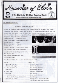 Memories Of Elvis - Nr. 3
