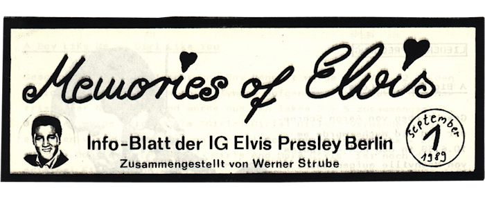 """Memories Of Elvis"" Nr. 1 – Wie alles begann!"
