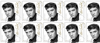 Elvis erneut auf Briefmarke in den USA