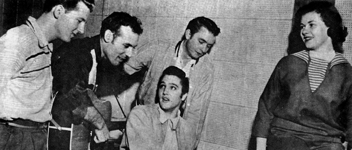 Jerry Lee Lewis, Carl Perkins, Elvis Presley, Johnny Cash, Marilyn Evans