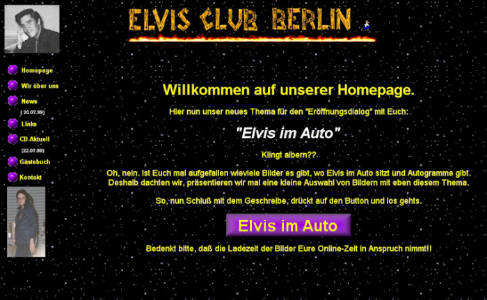 Screenshot vom Juli 1999